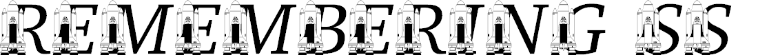 Preview image for LMS Remembering SS Challenger Font