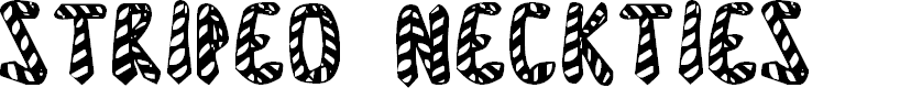 Preview image for Striped Neckties Font