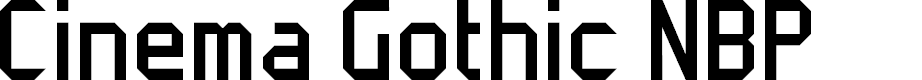 Preview image for Cinema Gothic NBP Font