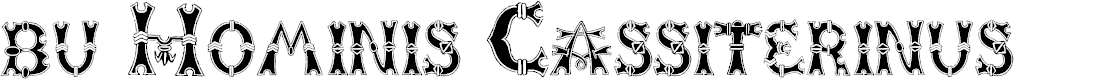 Preview image for bu Hominis Cassiterinus Font
