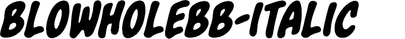 Preview image for BlowholeBB-Italic