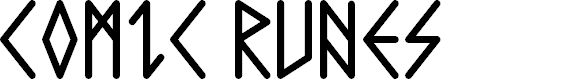 Preview image for Comic Runes  Font