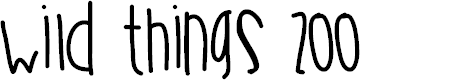 Preview image for WildThingsZoo Font