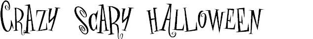 Preview image for crAZYSCARYhalLowEeN Font