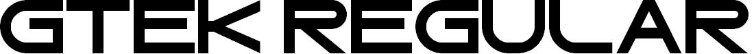 Preview image for Gtek Regular Font