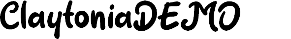 Preview image for ClaytoniaDEMO Font
