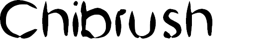 Preview image for Chinese Brush Font