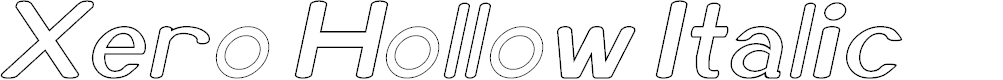 Preview image for Xero Hollow Italic