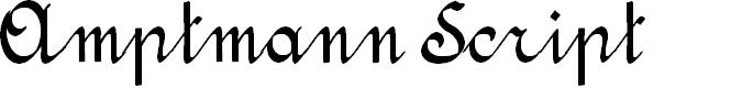Preview image for Amptmann Script Font
