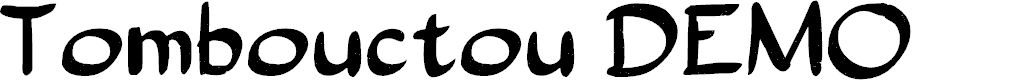 Preview image for Tombouctou DEMO Regular Font