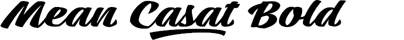 Preview image for Mean Casat Bold PERSONAL USE Font