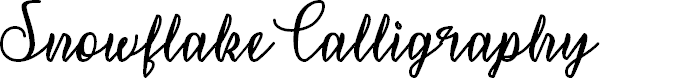 Preview image for SnowflakeCalligraphy