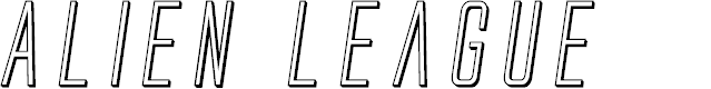 Preview image for Alien League 3D Italic