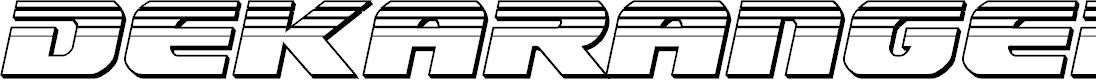 Preview image for Dekaranger Chrome Italic