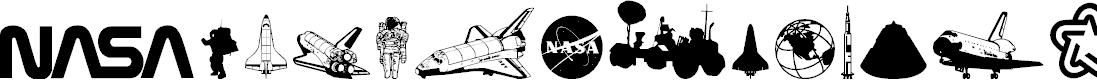Preview image for NASA Dings Font