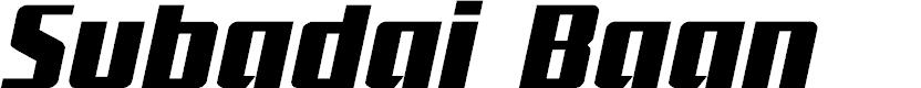 Preview image for Subadai Baan Italic Font