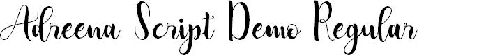 Preview image for Adreena Script Demo Regular Font