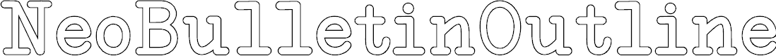 Preview image for NeoBulletinOutline Font
