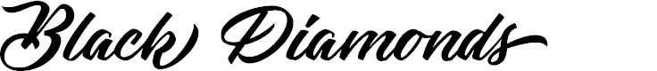 Preview image for Black Diamonds Personal Use Font