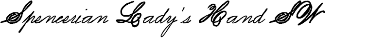 Preview image for Spencerian Lady's Hand SW Font