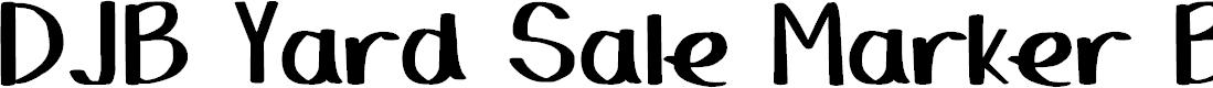 Preview image for DJB Yard Sale Marker Bold Font