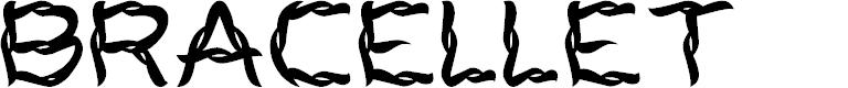 Preview image for BRACELLET Font