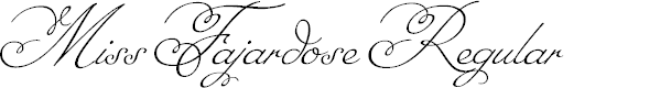 Preview image for Miss Fajardose Regular Font