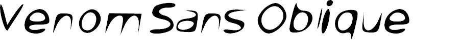 Preview image for Venom Sans Oblique