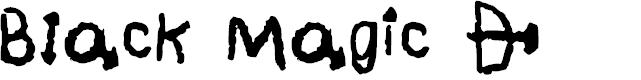 Preview image for Black Magic * Regular Font