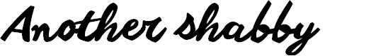 Preview image for Another shabby Font