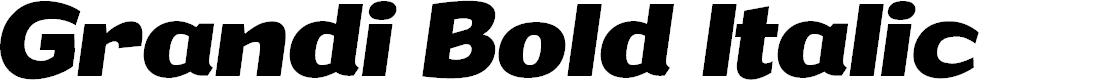 Preview image for Grandi PERSONAL USE Bold Italic
