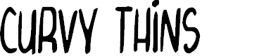 Preview image for Curvy Thins Font