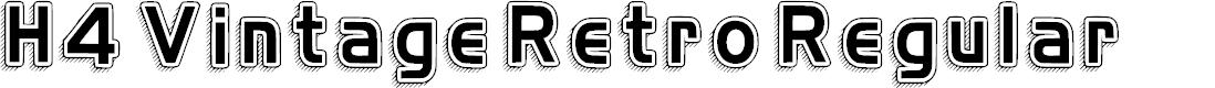 Preview image for H4 Vintage Retro Regular Font