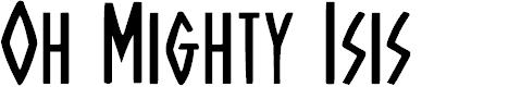 Preview image for Oh Mighty Isis Regular Font