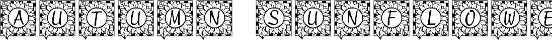 Preview image for LCR Autumn Sunflowers Font