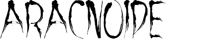 Preview image for aracnoide Font