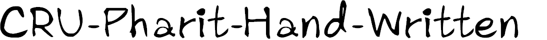 Preview image for CRU-Pharit-Hand-Written Font