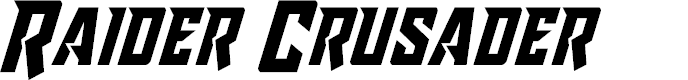 Preview image for Raider Crusader Font