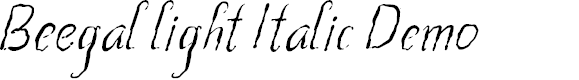 Preview image for Beegal light Italic Demo