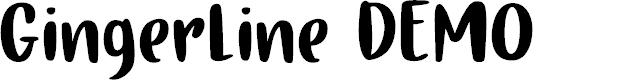 Preview image for Gingerline DEMO Regular Font