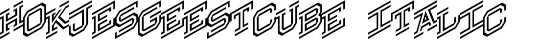 Preview image for Hokjesgeestcube Italic