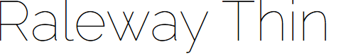 Preview image for Raleway Thin