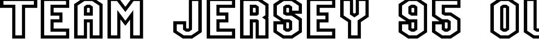 Preview image for Team Jersey 95 Outline Font