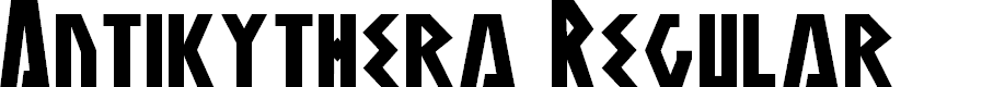 Preview image for Antikythera Regular Font