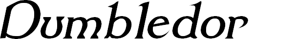 Preview image for Dumbledor 1 Italic