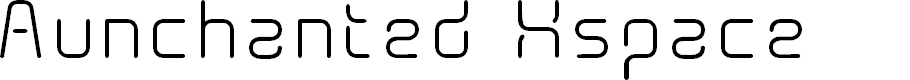 Preview image for AunchantedXspace Font