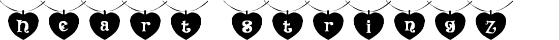 Preview image for 101! Heart StringZ Font