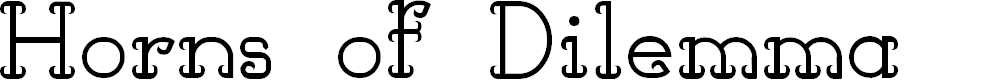 Preview image for Horns of Dilemma Font