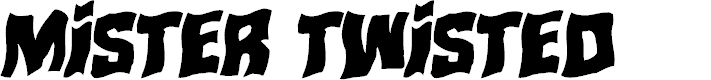 Preview image for Mister Twisted Warped Italic