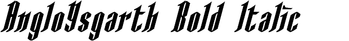 Preview image for AngloYsgarth Bold Italic